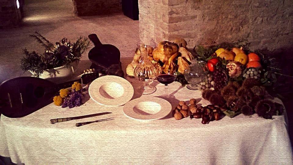 A cena nelle cantine della Villa