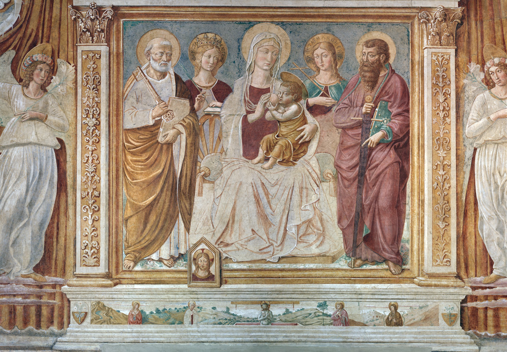 Tabernacle of The Madonna of the Cough by Benozzo Gozzoli